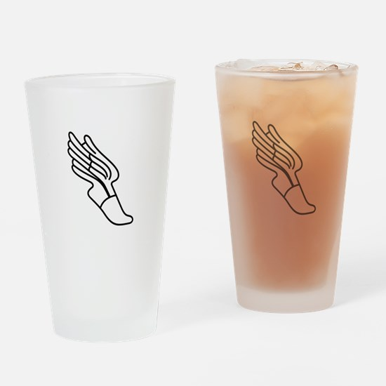 Track Logo Drinking Glass