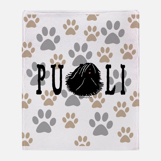 Dread Text Puli Dog Throw Blanket