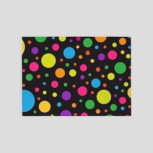 Polka Dot Colorful fun 5'x7'Area Rug