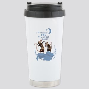 Possums Own the Night Stainless Steel Travel Mug