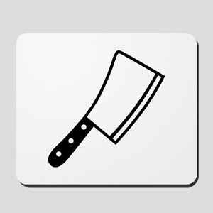 Butcher knife cleaver Mousepad