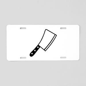 Butcher knife cleaver Aluminum License Plate