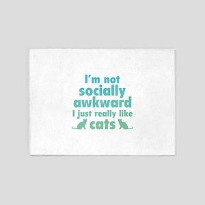 I Just Really Like Cats 5'x7'Area Rug