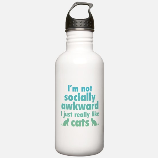 I Just Really Like Cats Water Bottle