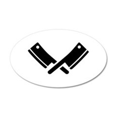 Butcher knives cleaver Wall Decal