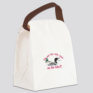 Loon on the Lake Canvas Lunch Bag
