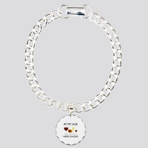 At My Age I Need Glasses Charm Bracelet, One Charm