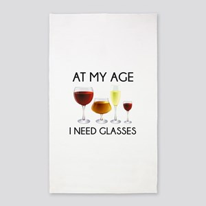 At My Age I Need Glasses 3'x5' Area Rug