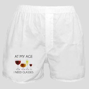 At My Age I Need Glasses Boxer Shorts