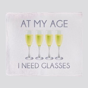 At My Age I Need Glasses Stadium Blanket