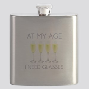 At My Age I Need Glasses Flask