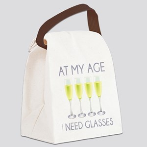 At My Age I Need Glasses Canvas Lunch Bag