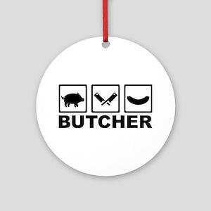 Butcher Ornament (Round)