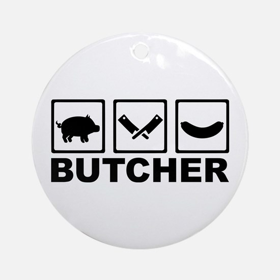 Butcher Ornament (Round)