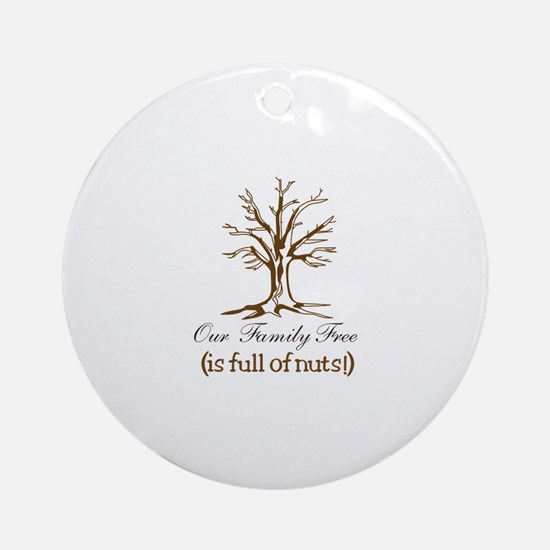 Full of Nuts Ornament (Round)