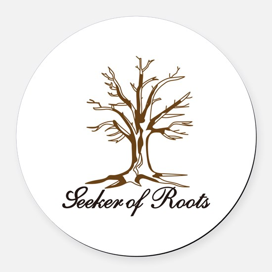 Seeker of Roots Round Car Magnet