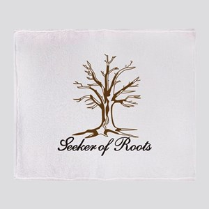 Seeker of Roots Throw Blanket