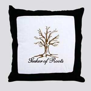 Seeker of Roots Throw Pillow
