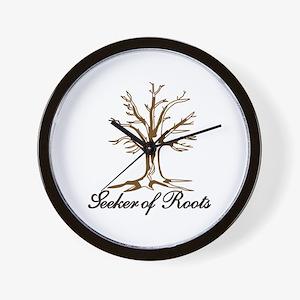 Seeker of Roots Wall Clock