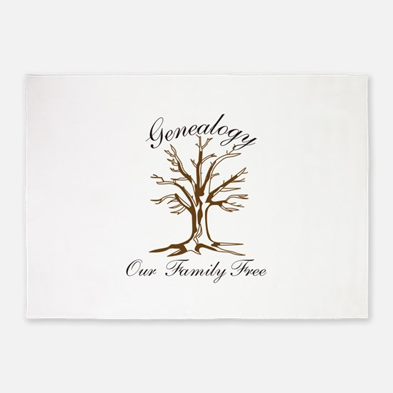 Genealogy 5'x7'Area Rug