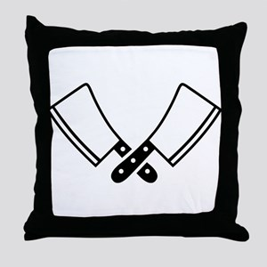 Butcher knives cleaver Throw Pillow