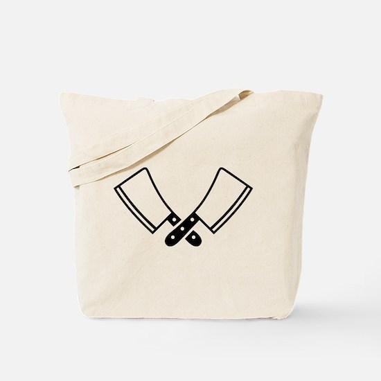 Butcher knives cleaver Tote Bag