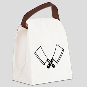 Butcher knives cleaver Canvas Lunch Bag