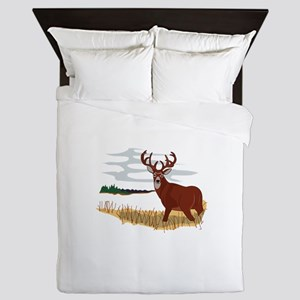 Whitetail Deer Scene Queen Duvet