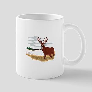 Whitetail Deer Scene Mugs