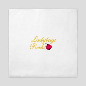 Ladybugs Rock Queen Duvet