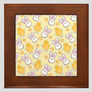 Bunny Business Framed Tile