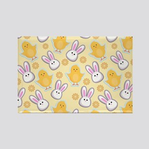 Bunny Business Rectangle Magnet