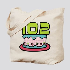 102 Year Old Birthday Cake Tote Bag