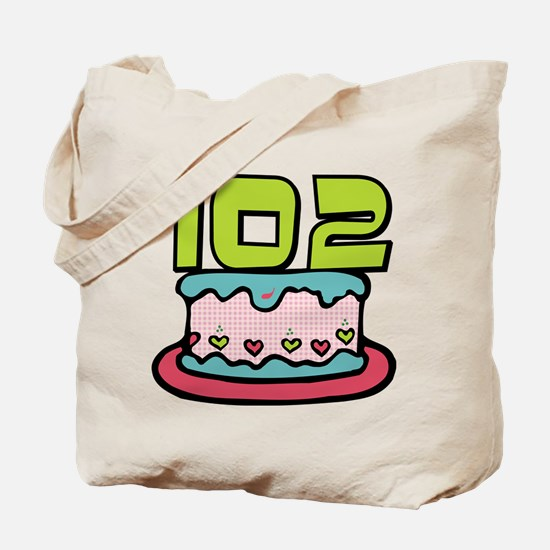 102 Year Old Birthday Cake Tote Bag