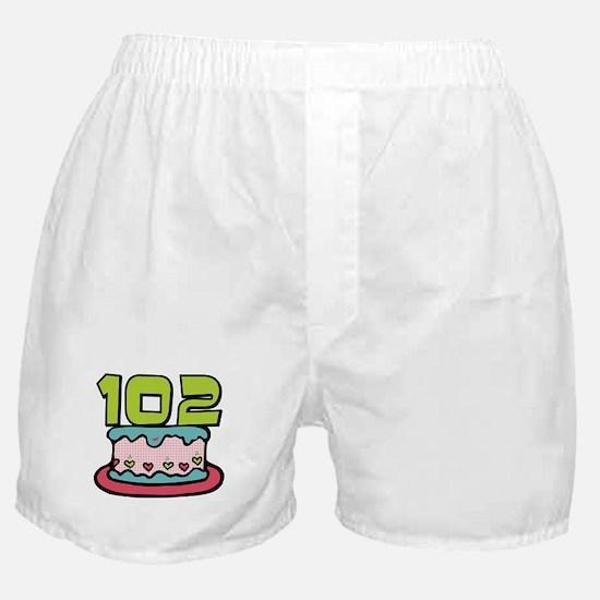 102 Year Old Birthday Cake Boxer Shorts