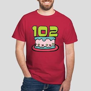102 Year Old Birthday Cake Dark T-Shirt