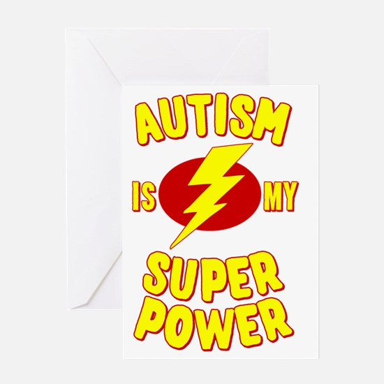 Autism is My Super Power Greeting Card