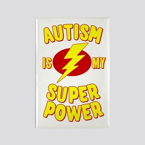 Autism is My Super Power Rectangle Magnet