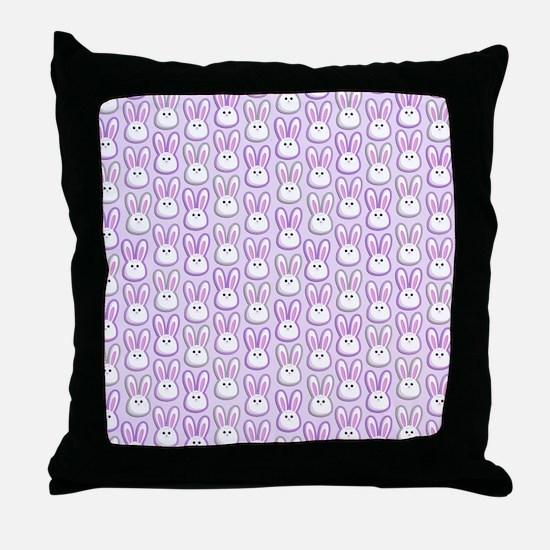Bunny Wave Throw Pillow