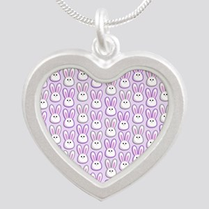 Bunny Wave Silver Heart Necklace