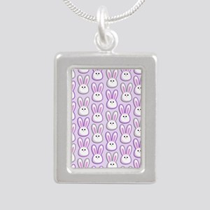 Bunny Wave Silver Portrait Necklace