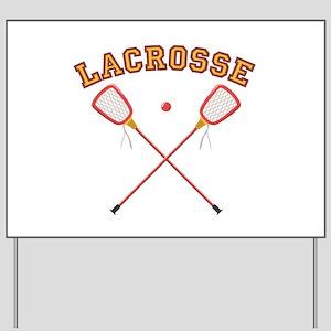 Lacrosse Sticks Yard Sign