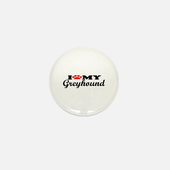 Greyhound - I Love My Mini Button