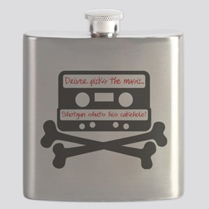 Driver picks the music. Flask