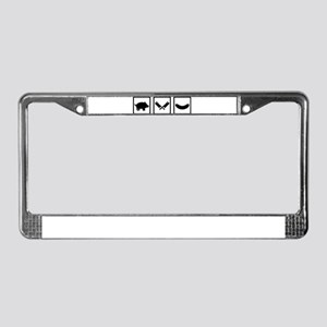 Butcher pig cleaver sausage License Plate Frame