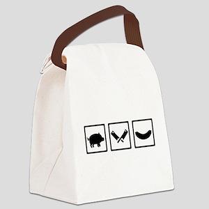 Butcher pig cleaver sausage Canvas Lunch Bag