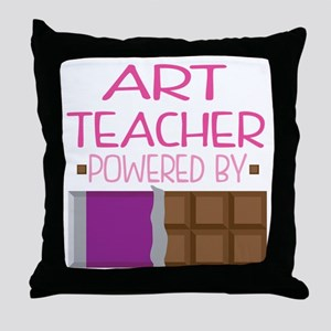 art teacher Throw Pillow