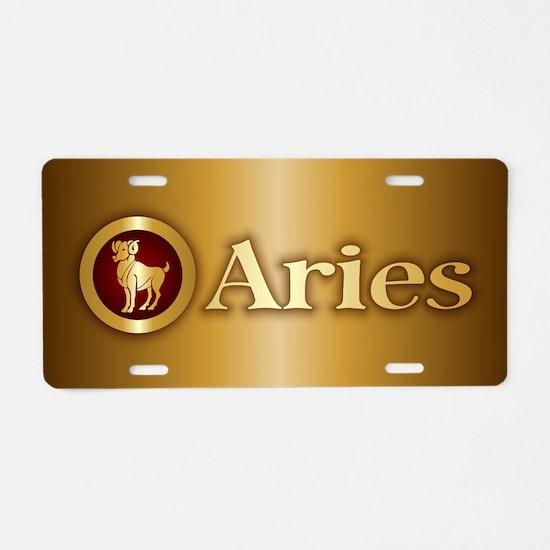 Aries Gold Aluminum License Plate