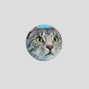 Beautiful Green Eyed Kitty Cat Mini Button