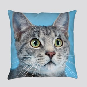 Beautiful Green Eyed Kitty Cat Everyday Pillow